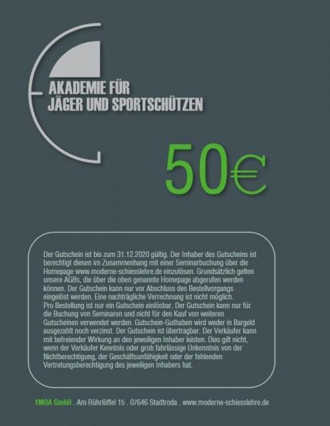 50€ Seminargutschein